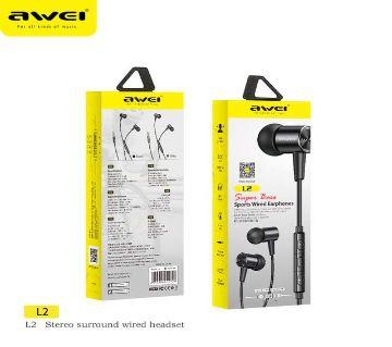Awei L2 Stereo In-Ear Earphone Wired Metal Earphones