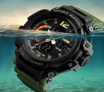 SKMEI 1343 - Army Green (50m waterproof) Watch