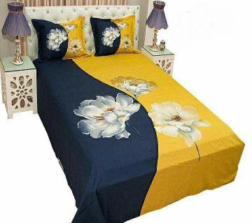 Digital Printed Multicolor Cotton Bedsheet