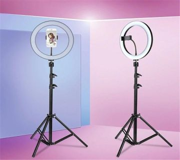 Photo LED Selfie Stick Ring Fill Light 10 inch Dimmable Camera Phone Ring Lamp With Stand Tripod For Makeup Video Live Studio.