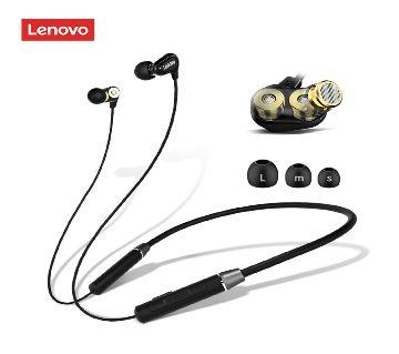 Lenovo HE08 Wireless Headphones Neck Hanging Handsfree Earbuds Earphones with Mic Mini Smart Bluetooth 5.0 In-Ear Music Headset