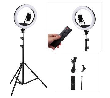 14 Inch Ring light with Tripod stand Ring Light with Stand & Phone Holder for Live Stream/Makeup, Led Camera Ringlight for  Video/Photography