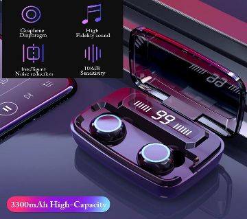 Digital Indicator True Wireless Headset V5.1 BT Wireless Earphone With LED Digital Display Touch
