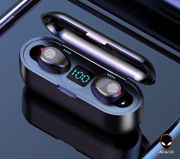 F9 TWS Bluetooth Earbuds Wireless BT 5.0 HiFi Noise-Cancelling Earphones W/1PC 2000mAh Charging Case