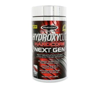 Hydroxycut Hardcore Weight Loss Supplement Next Gen-180 Capsules: USA