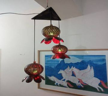 Decorative Hurricane Motive Table Lampshade