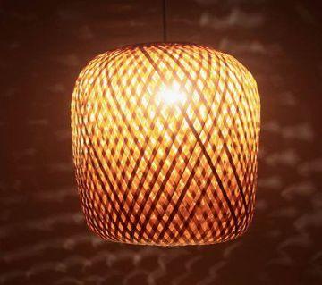 Earth friendly Bamboo Made Oval Shaped Hanging Lamp Shade - ECB