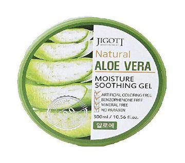JIGOTT Natural Aloe Vera Moisture Soothing Gel 300 ml Korea