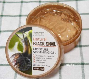 JIGOTT Natural Black Snail Moisture Soothing Gel 300 ml Korea