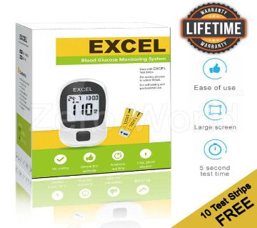 Blood Glucose Monitoring System-Excel 10 Test Strips Canada
