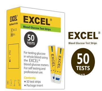 Blood Glucose Test Strips-Excel 50 Test Strips Canada