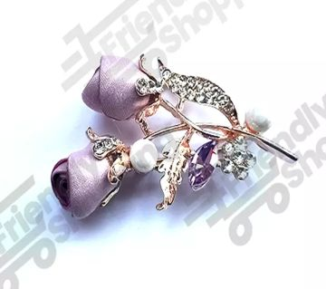 Hijab Brooches or Pin  Rose Design For Women and Weddings Banquet Party Suit Hijab Pins Brooch Valentine Day Gift
