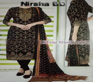 Hand Work Unstitched Three Piece For Women,Nirsha BD