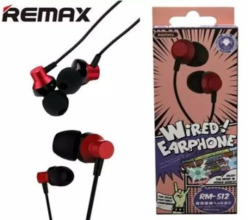Remax RM512 In-Ear Wired Earphone Stereo Headset with Mic For All Phones