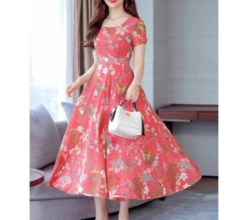 Comfortable China Cotton Kurti for women-pink
