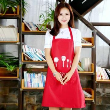 Regular Kitchen Apron-Red