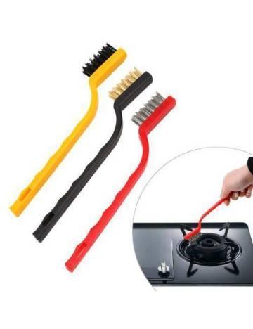 3 Pieces Wire Brush Set Multi Color