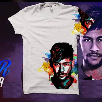 Rubber Print Cotton T-shirt