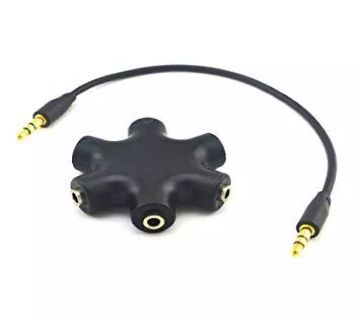3.5mm 1 to 5 Stereo Audio Headphone Splitter Adapter Converter