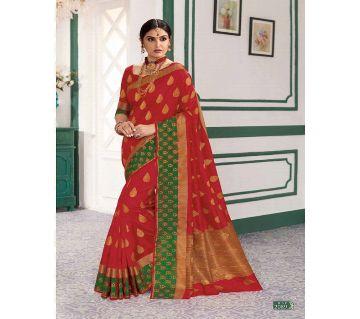 Rajguru Indian Silk Katan Sharee Without Running Blouse Piece For Womens By Sharee&Bedding.