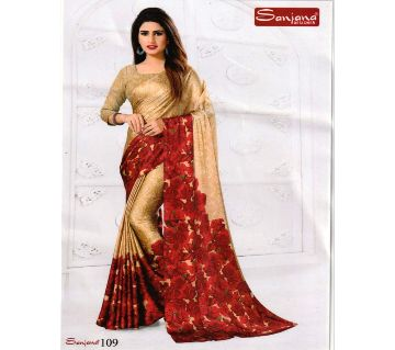 Indian Samu Silk Sharee With Running Blouse Piece For Womens By Sharee&Bedding .