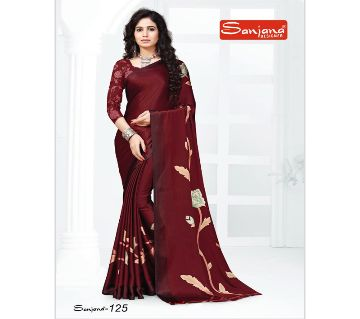 Indian Samu Silk Sharee With Running Blouse Piece For Women - Maroon Color
