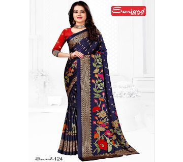 Indian Samu Silk Sharee With Running Blouse Piece For Women - Multi Color