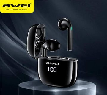 Awei T28P TWS In Ear Wireless Bluetooth Headset with LED Indication & Touch Mode Black