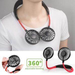 Hanging Neck Fan, Outdoor Wearable Lazy Sports Fan USB Charging