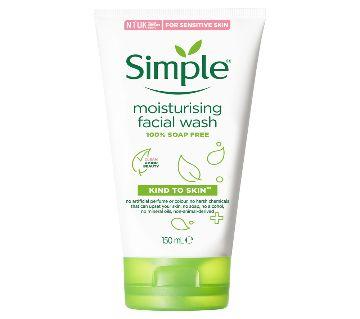 Simple Moisturising Foaming Facial Wash - 150ml Uk