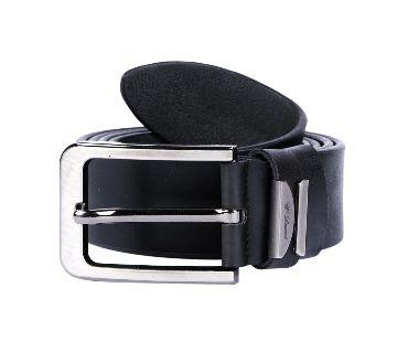 Formal Black Artificial Leather Belt For Men