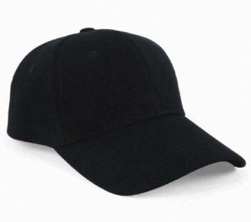 Black Denim Cap for Men