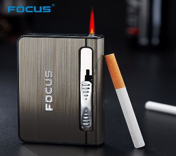 Focus Cigarate Box (Black and Silver Colour)