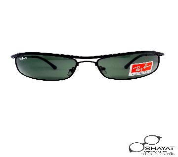 Ray ban RB 3339_Black_Silver_POLARIZED OLYMPIAN FLEX HINGES WRAP SUNGLASSES_casual_classic_Eye sun glass