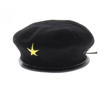 Black Cotton Che Guevara Hat For Men