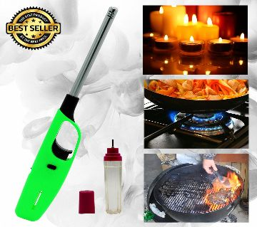 Kitchen Utility Gas Lighter Refillable with Free 30ml Lighter Fluid