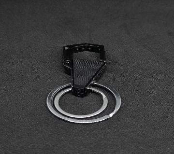 Naxis Black Gold Antique Metal Keychain Ring Hook Holder for Bikes Car Keychains (Black Gold)