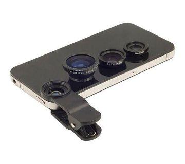 3-in-1 Universal Mobile Clip-on Lens - Black