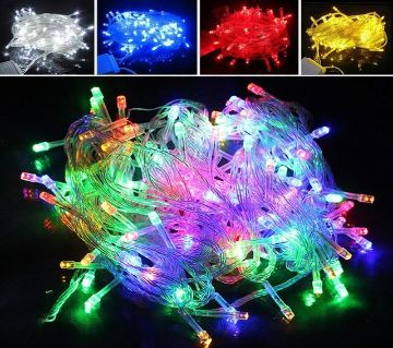 Multicolor 100Pcs LED Fairy Lights String Celebrations Party Decor & Gifts Decoration Lights, BirthDay, Eid, Puja, Christmases Celebrations Decoration