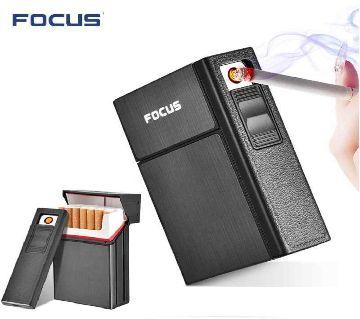 Focus electric Coil lighter with box 20pcs cigarette case lighter