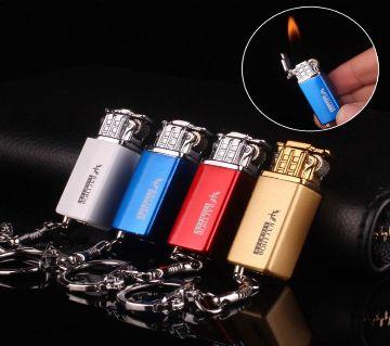 Mini Raythor Portable Butane Gas Lighter With Keychain for Smoking or Lighting-(GOLDEN)-1pcs