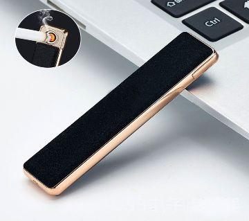 USB Lighter Blue Rechargeable Electronic Lighter Metal Turbo Lighter