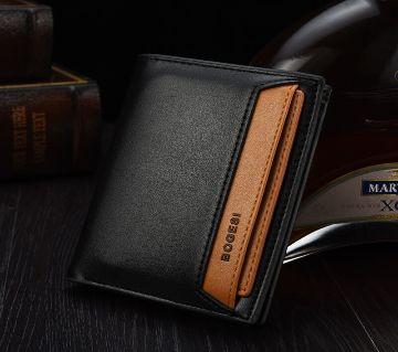 Short Card Wallets Casual No Zipper PU Leather Lacquer Surface Soft Organizer Wallets