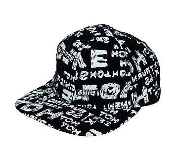 Black And White Hip Hop Cap For Men