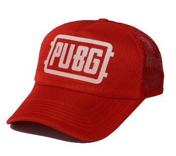 Red PUBG Logo Half Net Curved Cap
