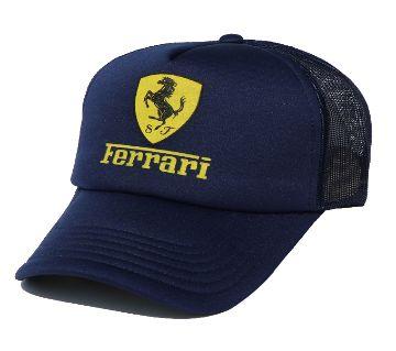BLACK FERRARI Logo Half Foam Net Fashionable Styles Cap For Men