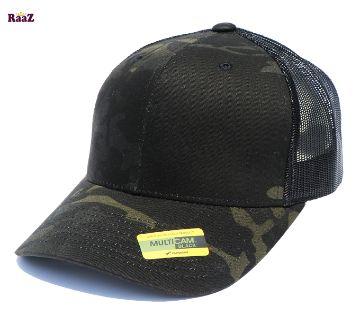 Black Army Fabrics Mesh Air Cotton Curved Cap