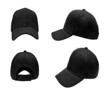 Black Curve Visor Adjustable Cap for Man