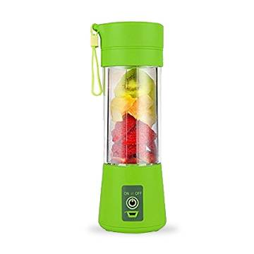 Wuze Portable Personal Size Electric Rechargeable Mixer Blender Water Bottle With power bank Portable Juice Blender And Mixer 380 Ml