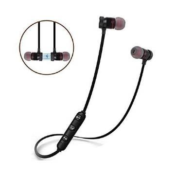 Metal Magnetic Sports Bluetooth Headset Black